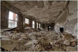 abandoned poorhouse newspaper room