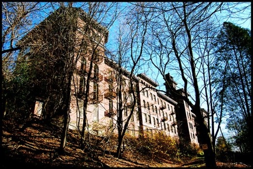 Castle in the hills abandoned