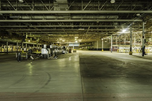 urban exploration photography of the abandoned St Thomas Ford Assembly Plant