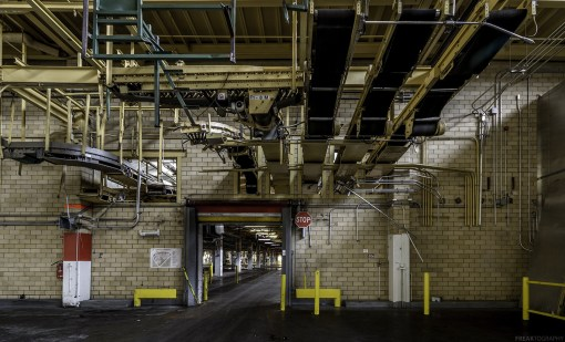Inside a very large and vast food production plant