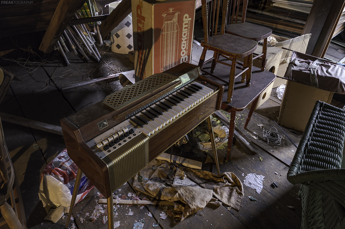 abandoned ontario house attic