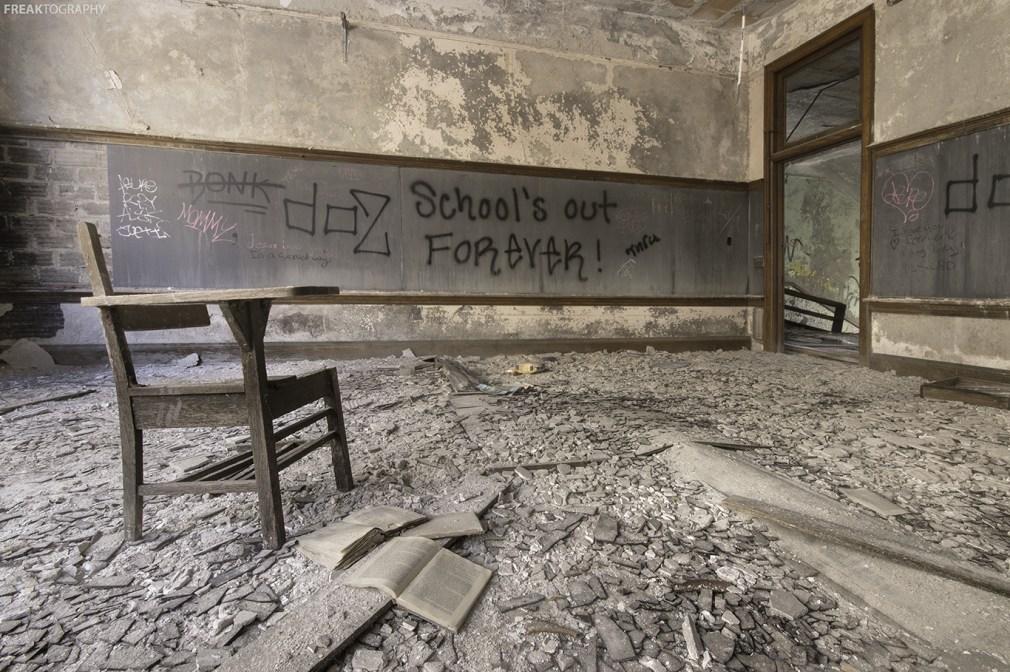 Abandoned School in Detroit Michigan