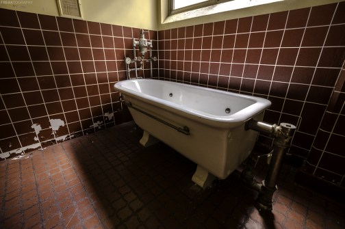 A hydrotherapy tub found inside a vacant shut down Psychiatric Hospital.