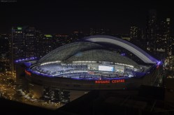 The Rogers Centre in Downtown Toronto on a perfect September night.