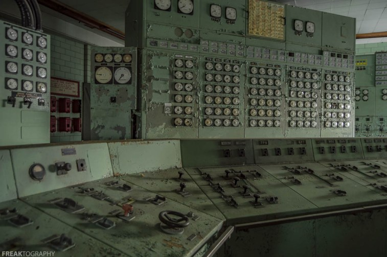 Abandoned Power Plant Control Room, abandoned, abandoned photography, abandoned places, creepy, decay, derelict, Freaktography, haunted, haunted places, photography, urban exploration, urban exploration photography, urban explorer, urban exploring