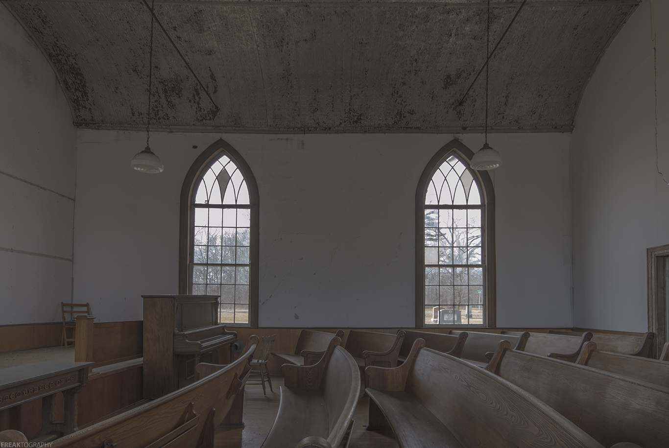 A Vacant old Ontario Church photographed by freaktography, Freaktography, abandoned, abandoned photography, abandoned places, creepy, decay, derelict, haunted, haunted places, photography, urban exploration, urban exploration photography, urban explorer, urban exploring