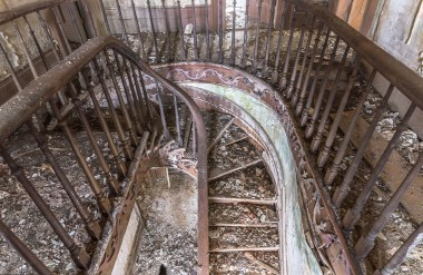 Abandoned House Spiral Staircase.