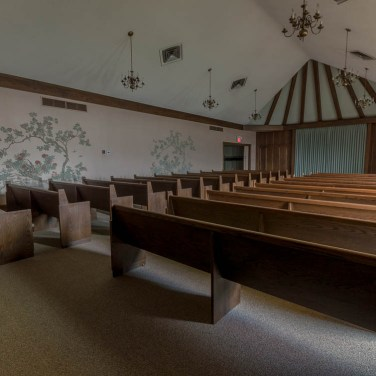 Rear of Funeral Home Chapel
