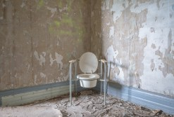 Abandoned nursing home, Freaktography, abandoned, abandoned photography, abandoned places, commode, commode chair, creepy, decay, derelict, freaktography.com, haunted, haunted places, nursing home, photography, poop jokes, urban exploration, urban exploration photography, urban explorer, urban exploring