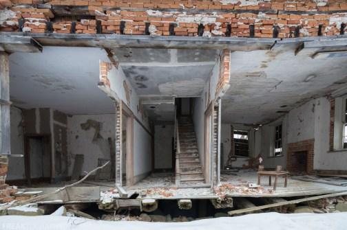 Freaktography, abandoned, abandoned photography, abandoned places, bricks, creepy, decay, derelict, elements, haunted, haunted places, photography, snow, stairs, urban exploration, urban exploration photography, urban explorer, urban exploring, winter