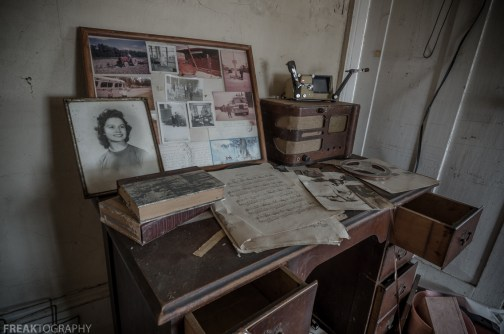 Freaktography, abandoned, abandoned photography, abandoned places, antique radio, creepy, decay, derelict, haunted, haunted places, photography, photos, sheet music, urban exploration, urban exploration photography, urban explorer, urban exploring, woman