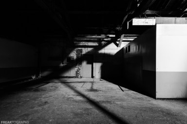 Freaktography, abandoned, abandoned photography, abandoned places, black and white\, creepy, decay, derelict, haunted, haunted places, industrial, lines, mono, monochrome, photography, shadow, shadows, urban exploration, urban exploration photography, urban explorer, urban exploring