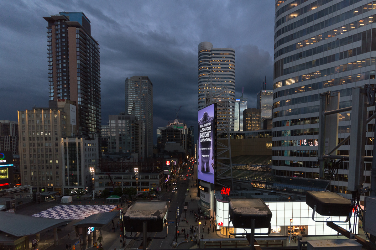 Toronto Squared, TimeLapse Video from Yonge & Dundas Toronto