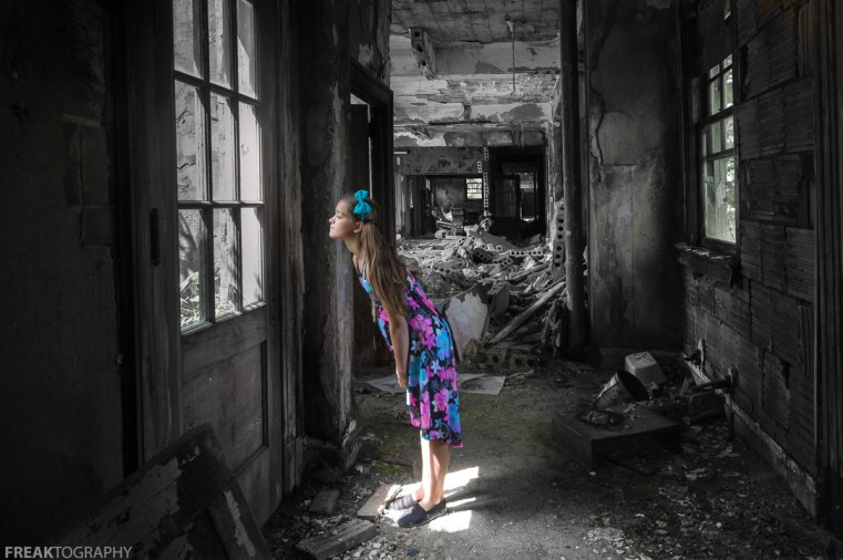 CHILD, DRESS, ELEGANCE IN ABANDONMENT, Freaktography, INNOCENT, MODEL, PORTRAITS, POSING, PRETTY, abandoned, abandoned photography, abandoned places, creepy, decay, derelict, flowers, girl, haunted, haunted places, photography, portrait, sweet, urban exploration, urban exploration photography, urban explorer, urban exploring