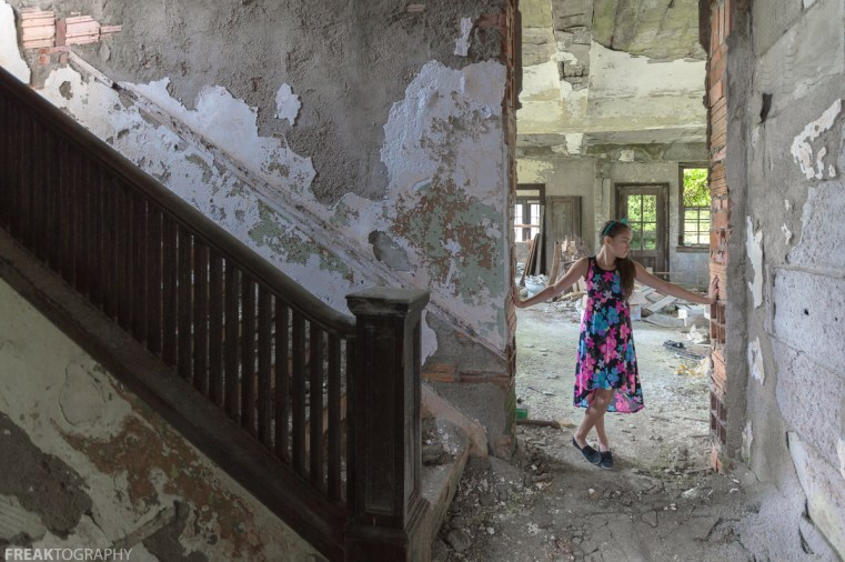 CHILD, DRESS, ELEGANCE IN ABANDONMENT, Freaktography, INNOCENT, MODEL, PORTRAITS, POSING, PRETTY, abandoned, abandoned building, abandoned decay, abandoned photography, abandoned places, beauty in decay, creepy, decay, derelict, flowers, girl, haunted, haunted places, photo series, photography, portrait, sweet, urban exploration, urban exploration photography, urban explorer, urban exploring