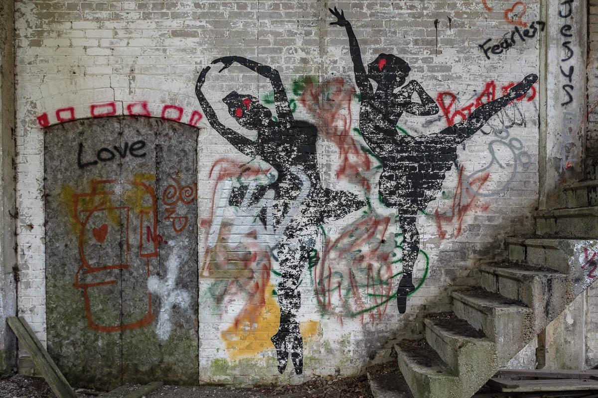 Ballet Graffiti Abandoned Factory Ruins