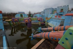 the Abandoned Splatalot Game Show Set in Amaranth Ontario Canada