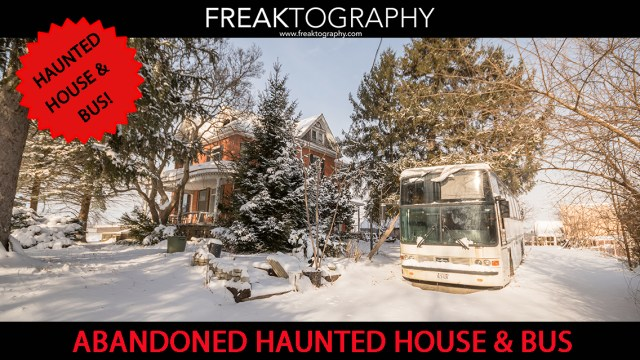 Abandoned Ontario Haunted House Exploration | Urban Exploring Photography This Abandoned House looks super creepy in person, like a picture perfect Haunted House!