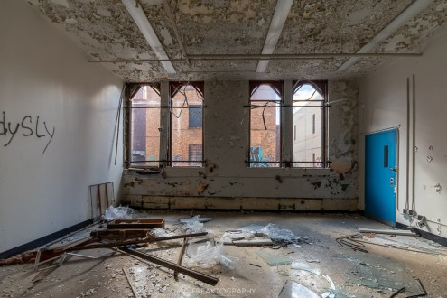 abandoned detroit cooley high school classroom