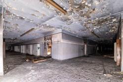 abandoned detroit cooley high school double hallway