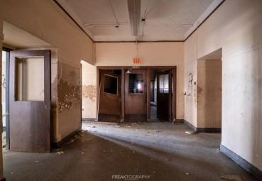 abandoned detroit cooley high school hallway doors
