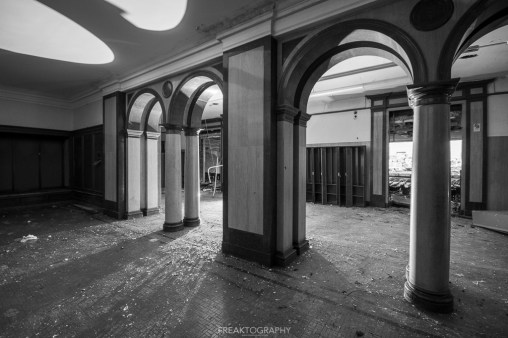 abandoned detroit cooley high school pilkars bw