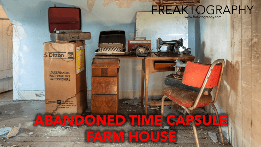 Abandoned Time Capsule Farmhouse Antique Audio Equipment