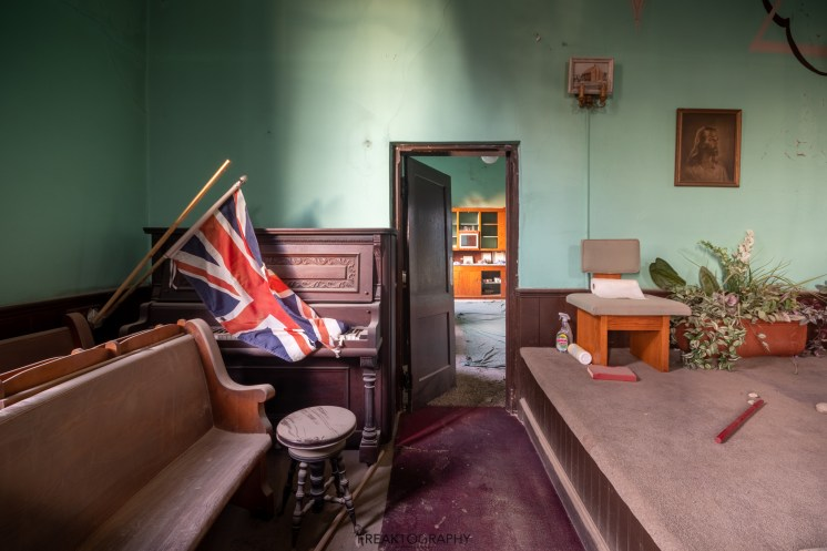 Union Jack in Abandoned Church
