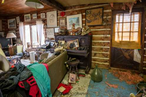 abandoned time capsule cabin hoarder house