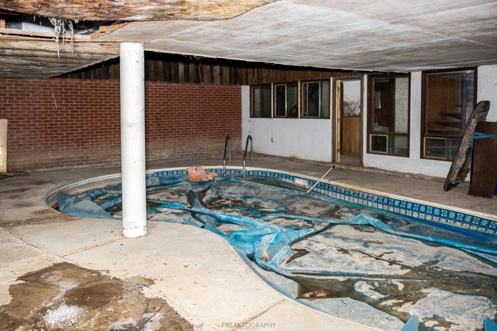 ABANDONED Dealer's 1970s Weird looking House with Indoor Pool & Sauna