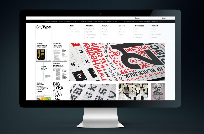 City Type website