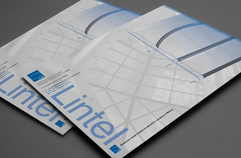 LINTEL corporate brochure envelope