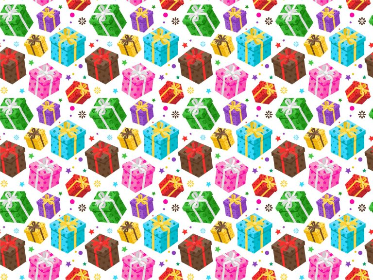 Gift Boxes Seamless Pattern Vector
