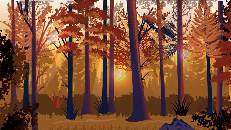 Forest Landscape Free Vector Download