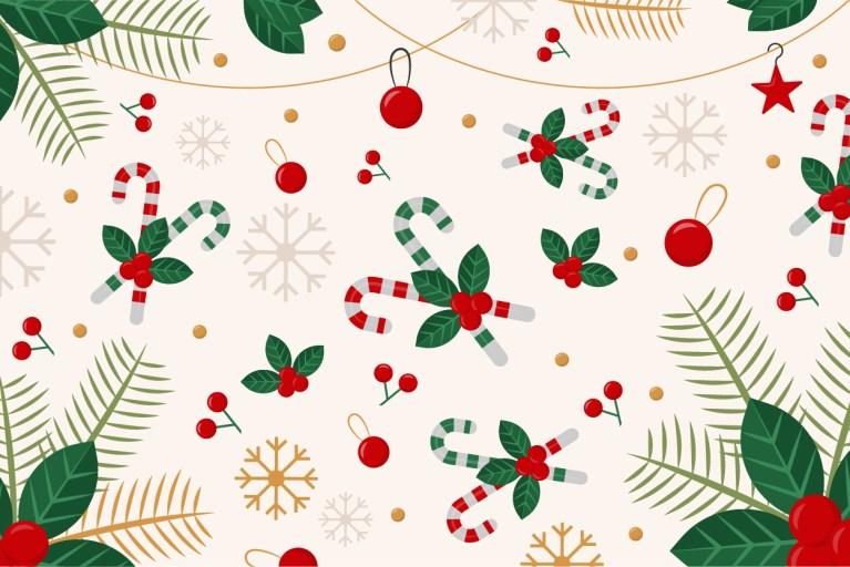 Christmas Background Free Vector Art