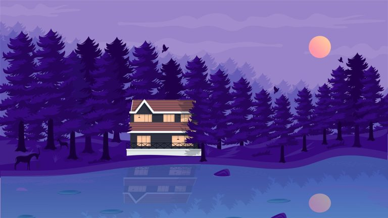 Free Forest House Vector Art