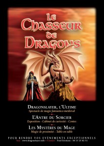 Le Chasseur de Dragons – spectacle de magie médiéval fantastique