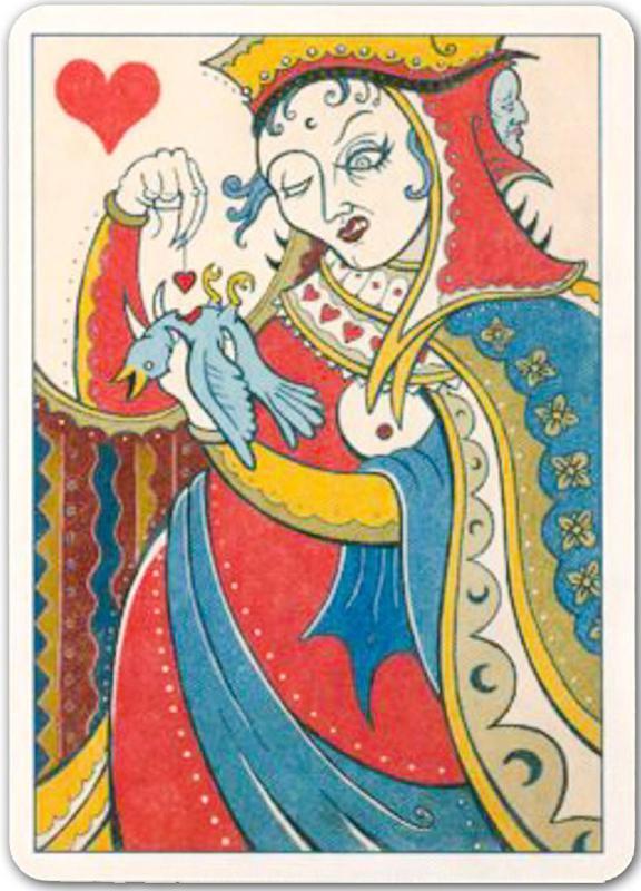collection privee cartes à jouer fred ericksen magicien 055 • Collection jeu de cartes dame de coeur • Fred Ericksen • Magicien Lyon • Conférencier mentaliste