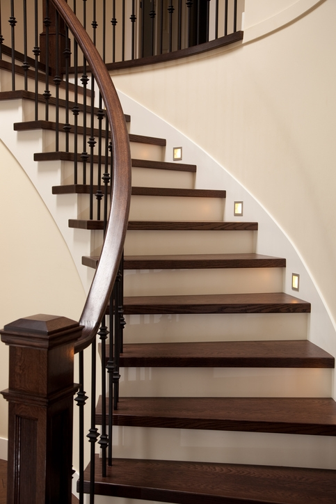 The Benefits Of Prefinished Stair Treads Fred Callaghan Flooring   Pre Stained Stair Treads   Stain Wood   Luxury   Natural Wood   Step   Gray Wood