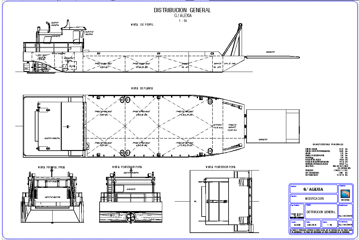 Modification of Barge Alexia