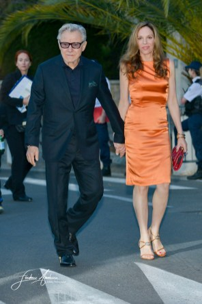 Harvey Keitel and Daphna Kastner at AmfAR's 22nd Cinema Against AIDS Gala, Presented By Bold Films And Harry Winston at Hotel du Cap-Eden-Roc on May 21, 2015 in Cap d'Antibes, France.