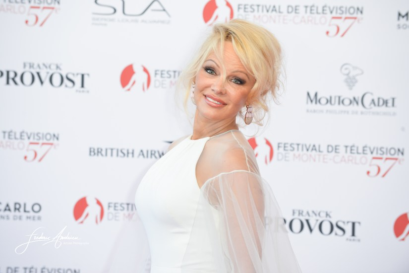 Monte-Carlo, 16 june 2017, Pamela Anderson on the Red Carpet of the opening ceremony of the 57th Festival Television of Monte Carlo