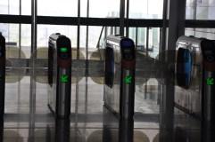 Rail station turnstiles
