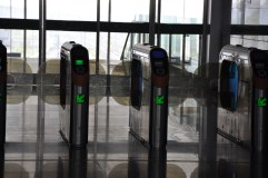 Rail station turnstiles