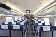Second class seats on Chinese high speed rail