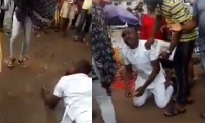 A Young Man Breaks Down In Tears And Rolls In The Mud After His Girlfriend Denied His Marriage Proposal