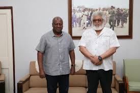 Just In: John Mahama Cuts Short His Campaign To Mourn Former President Jerry John Rawlings