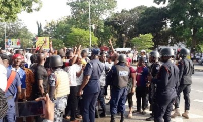 NDC supporters march to Electoral Commission headquarters