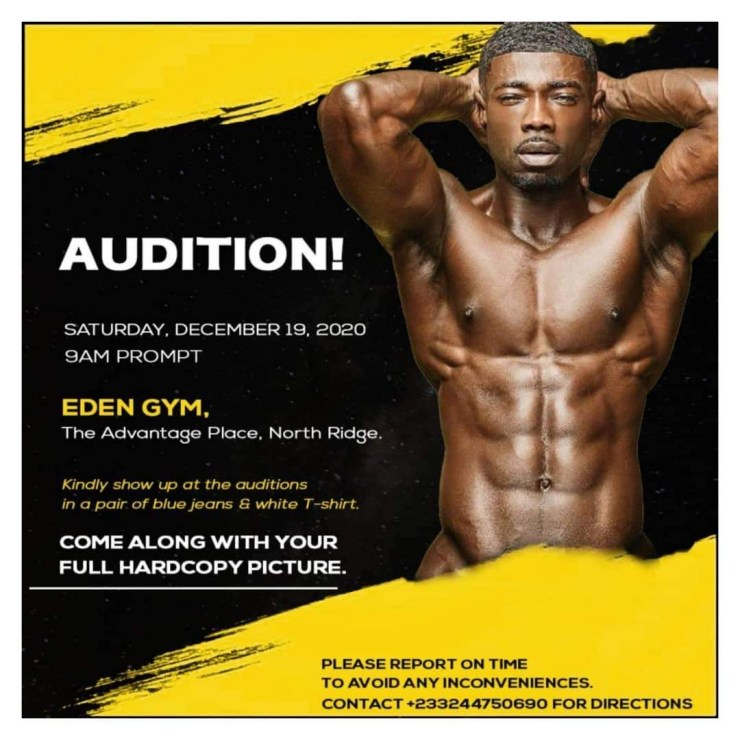 , Eden Gym set to hold 'Fit Race Reality Show' audition, Frederick Nuetei
