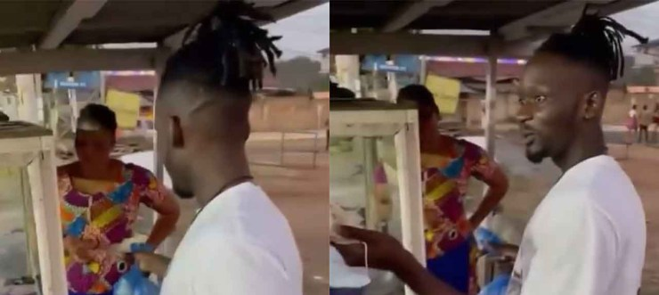 , Mr Eazi gifts money to 'Kelewele' seller to support her business, Frederick Nuetei